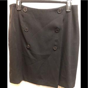 Geoffrey Beene Wrap Skirt Black. 14 Petite.